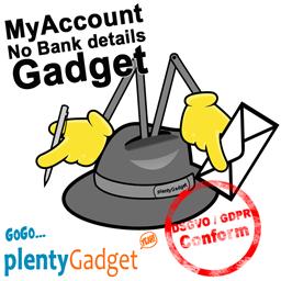 Mein Konto Gadget - keine Bankdaten