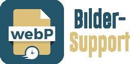 webP image support - fast loading images!